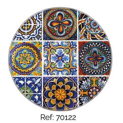 SET OF 6 ROUND GLASS COASTERS 10 CM